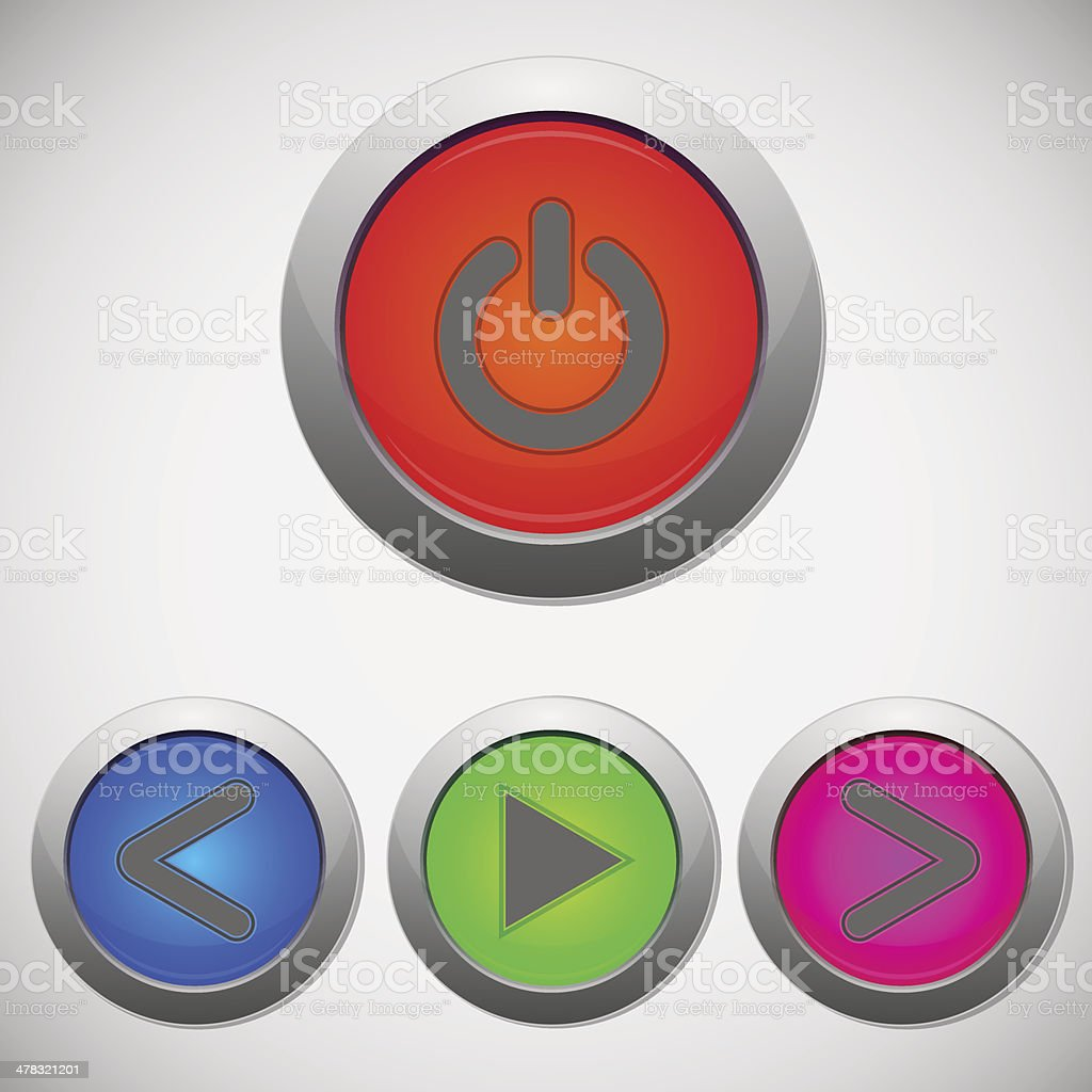 Set of player sign buttons royalty-free stock vector art