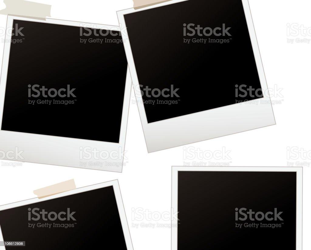 set of polaroids royalty-free stock vector art