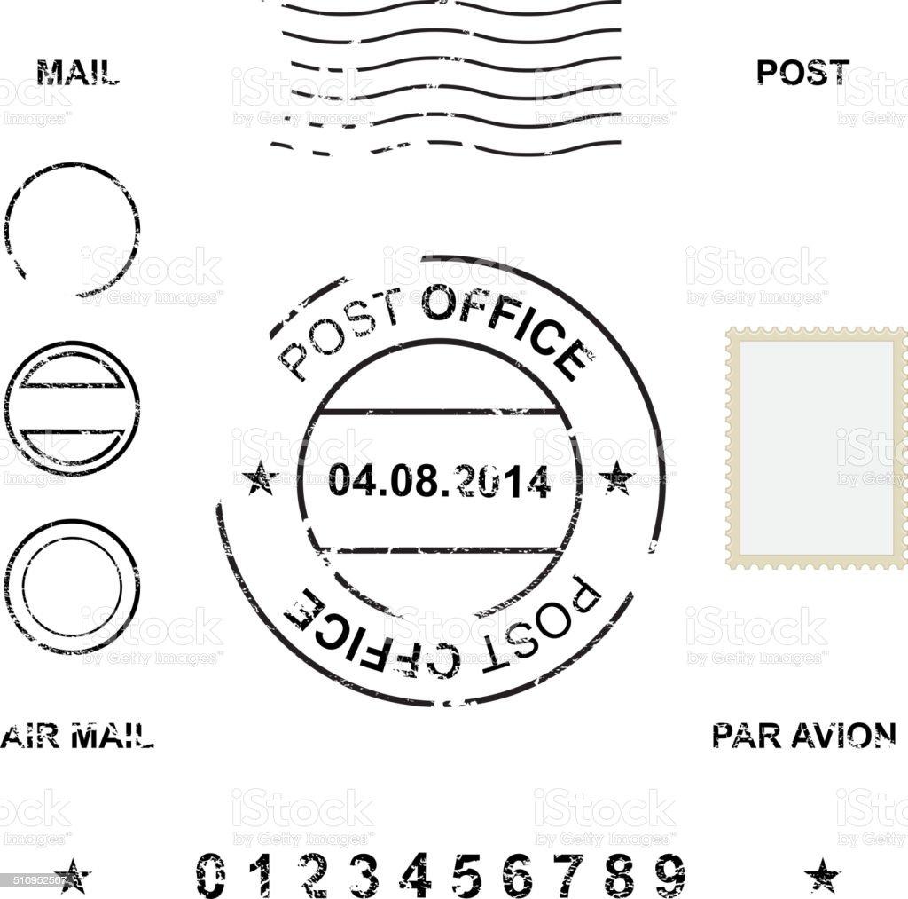 Set of post stamp symbols, vector illustration vector art illustration