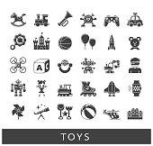 Set of premium quality toy icons