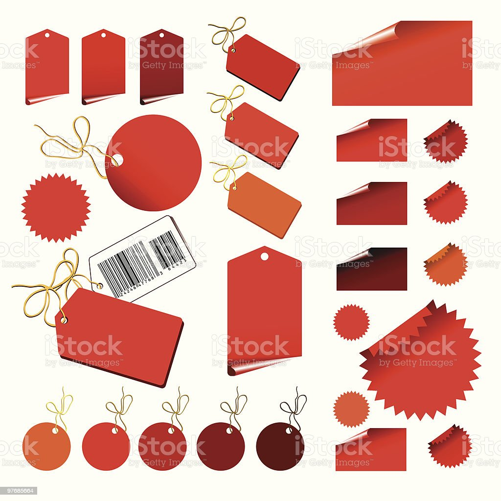 Set of price tags royalty-free stock vector art