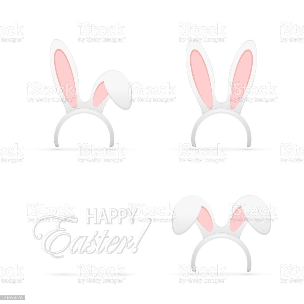 Set of rabbit ears vector art illustration