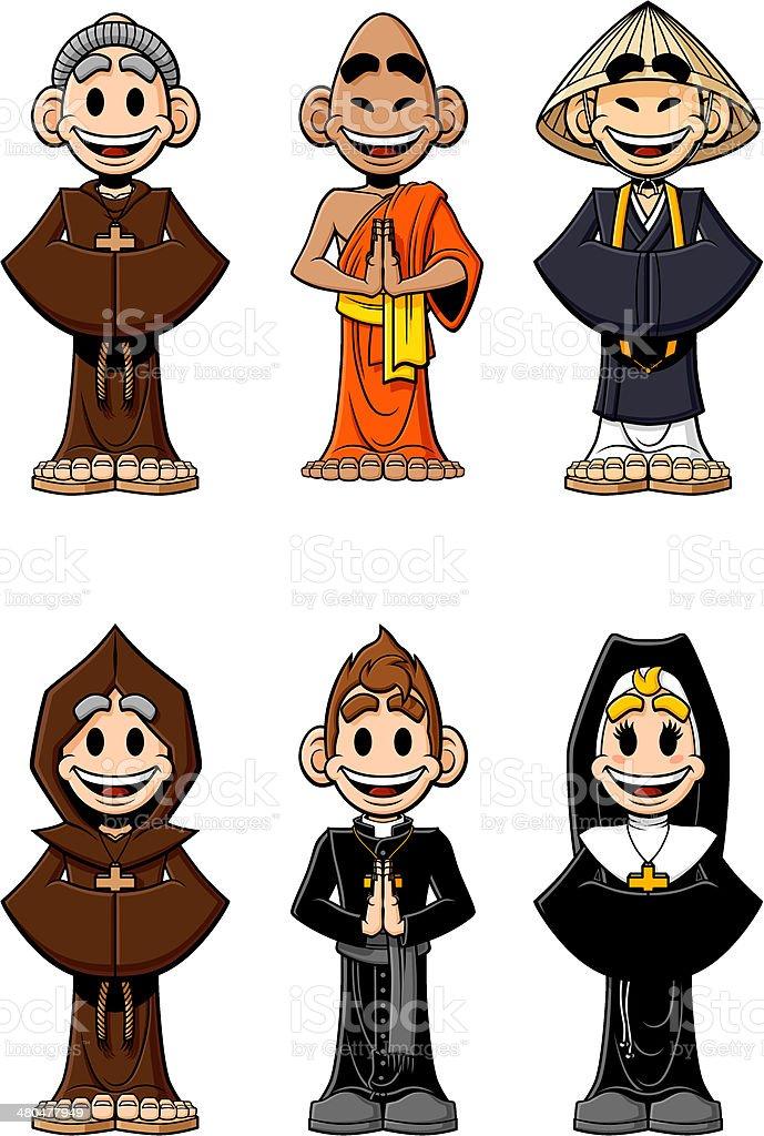 Set of religious royalty-free stock vector art