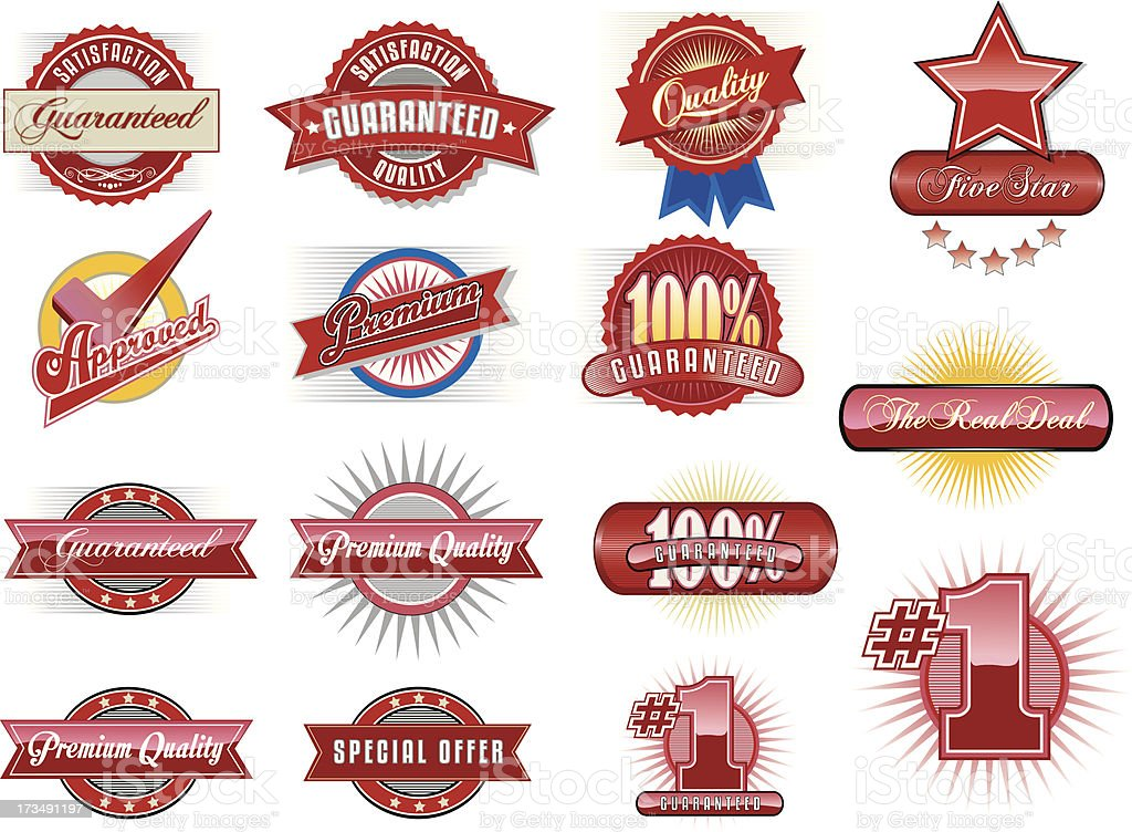 Set of  Retail Labels and Badges vector art illustration