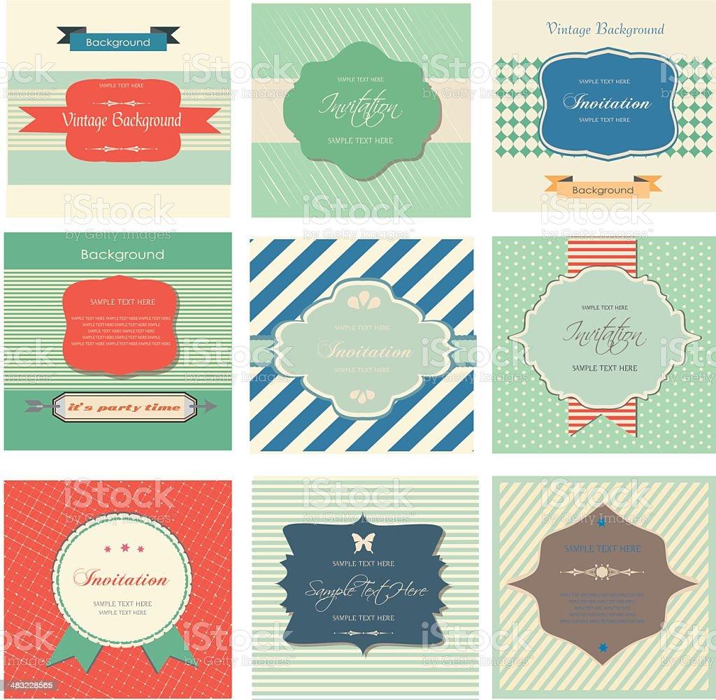 set of retro labels royalty-free stock vector art