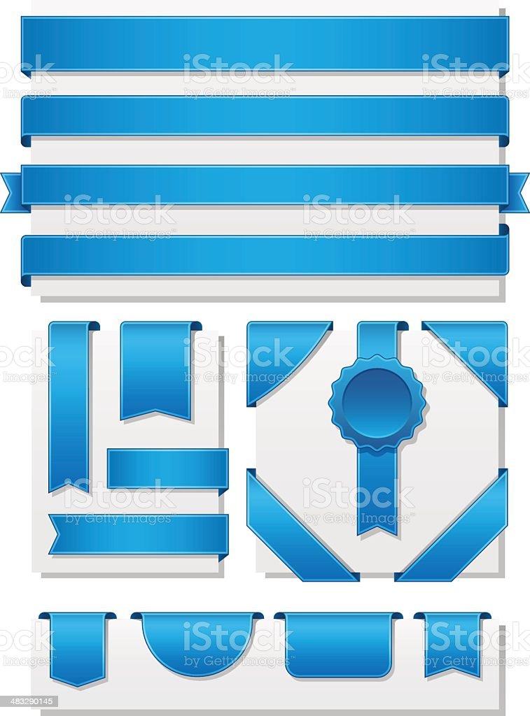 Set of ribbon elements royalty-free stock vector art
