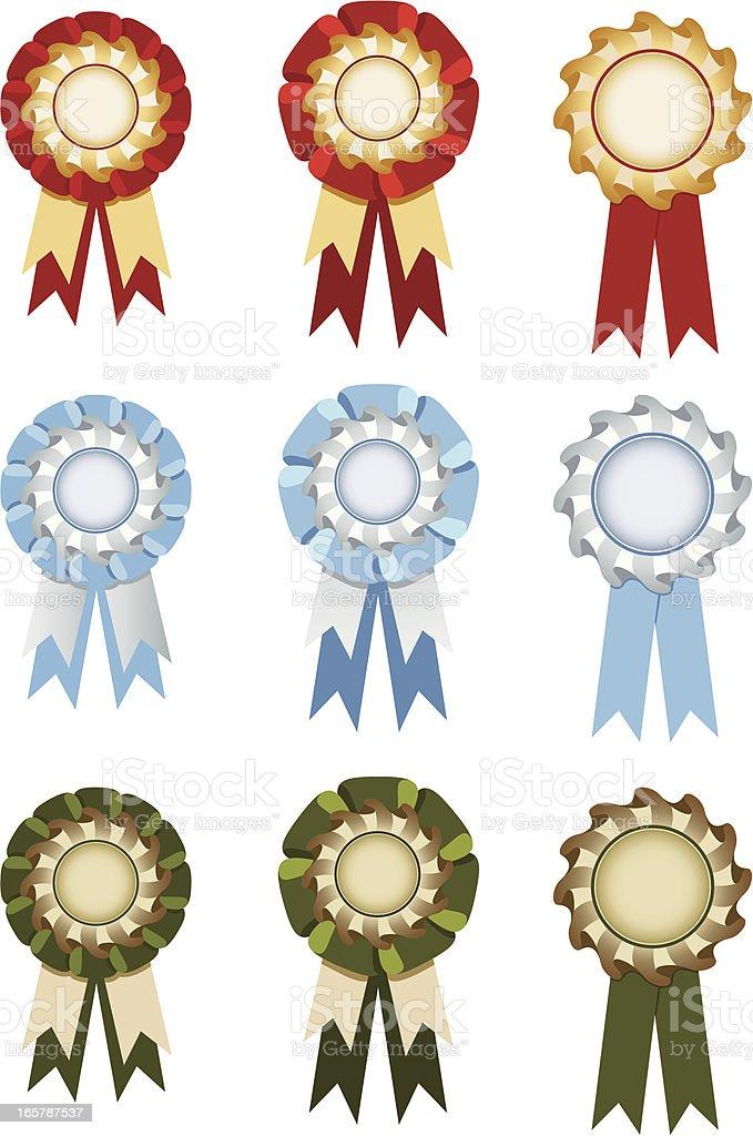 Set of rosettes royalty-free stock vector art