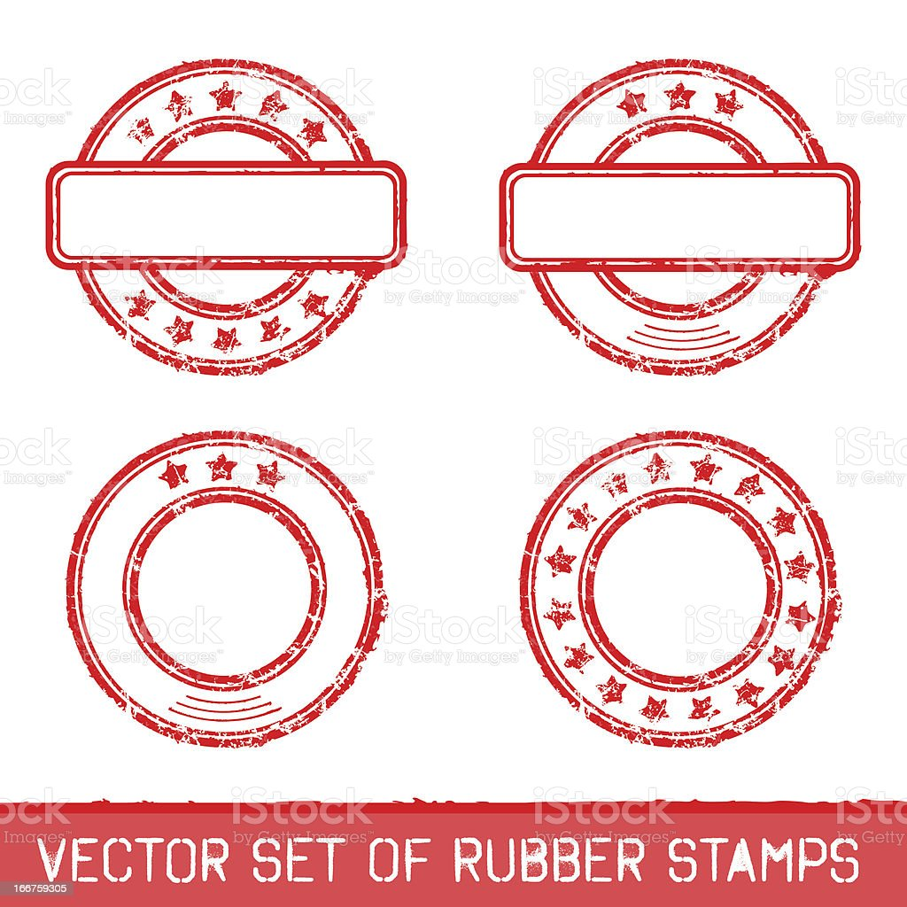 Set of rubber stamps royalty-free stock vector art