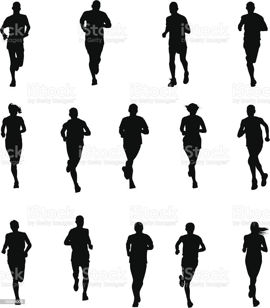 Set of Runners royalty-free stock vector art