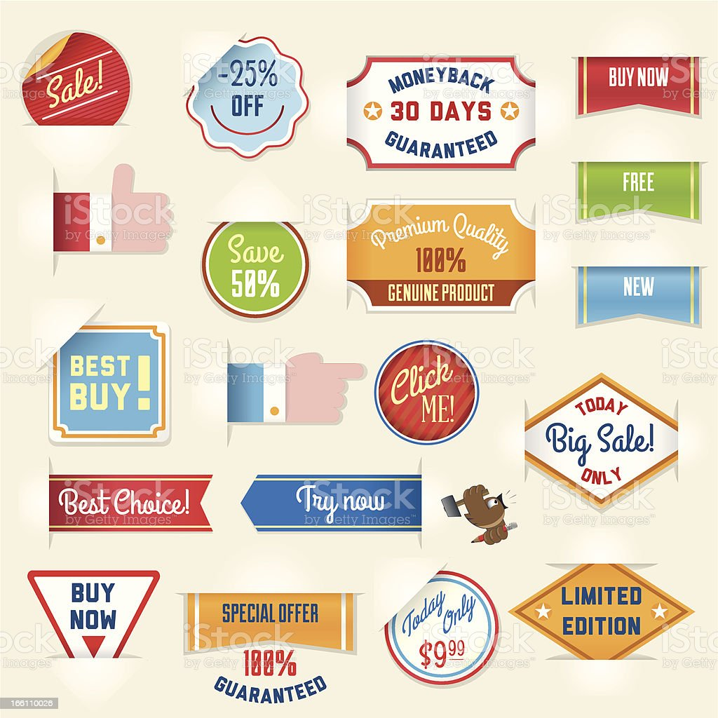 Set of sale stickers and tags royalty-free stock vector art