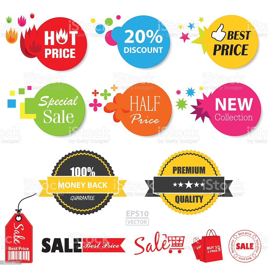 Set of sale stickers. EPS10. royalty-free stock vector art