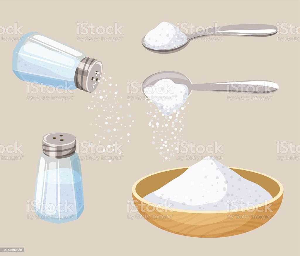Set of salt vector art illustration