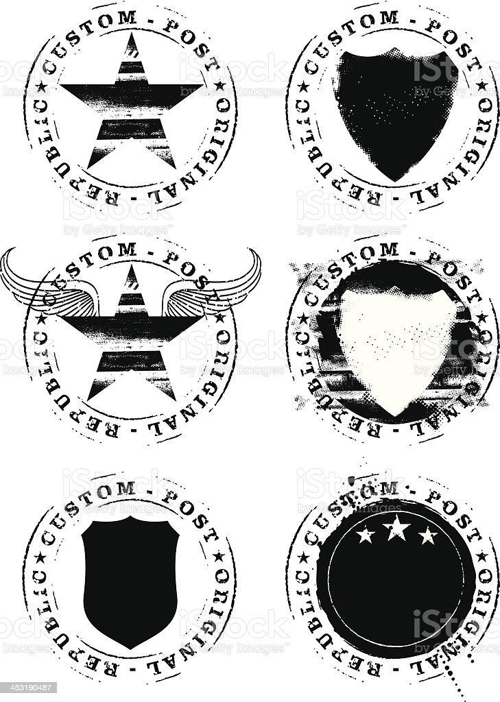 set of seals vector art illustration