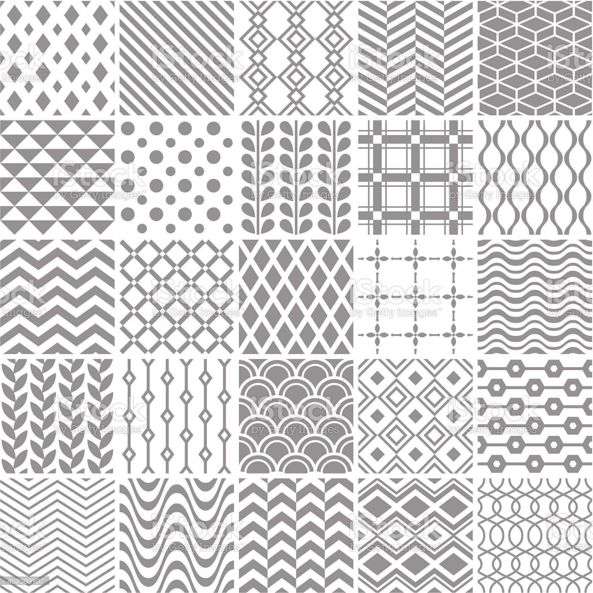 Set of seamless geometric patterns royalty-free stock vector art