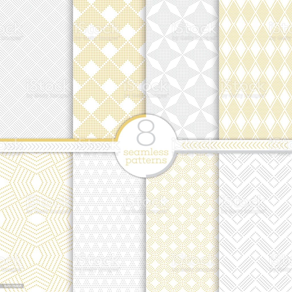 Set of seamless patterns vector art illustration