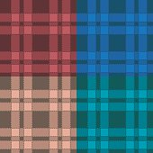 Set of seamless patterns with plaid