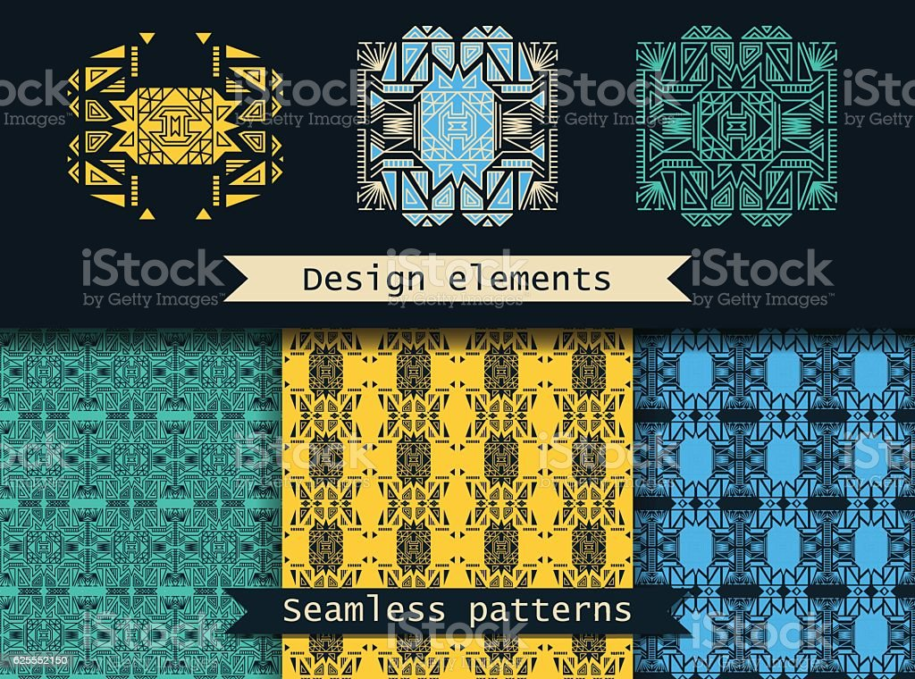 Set of seamless vector patterns. royalty-free stock vector art