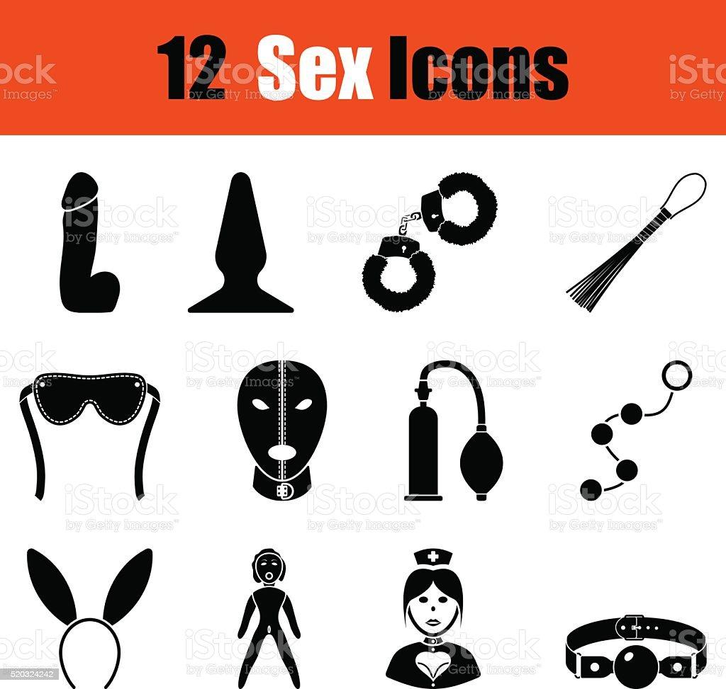 Set of sex icons vector art illustration