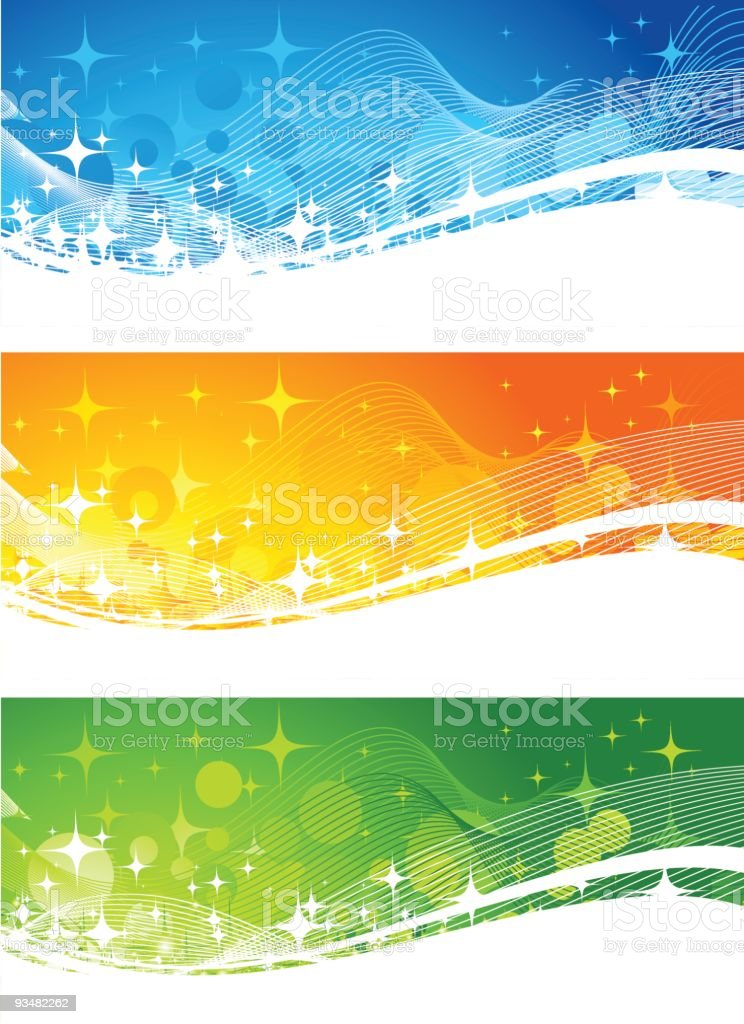 Set of shiny banners royalty-free stock vector art