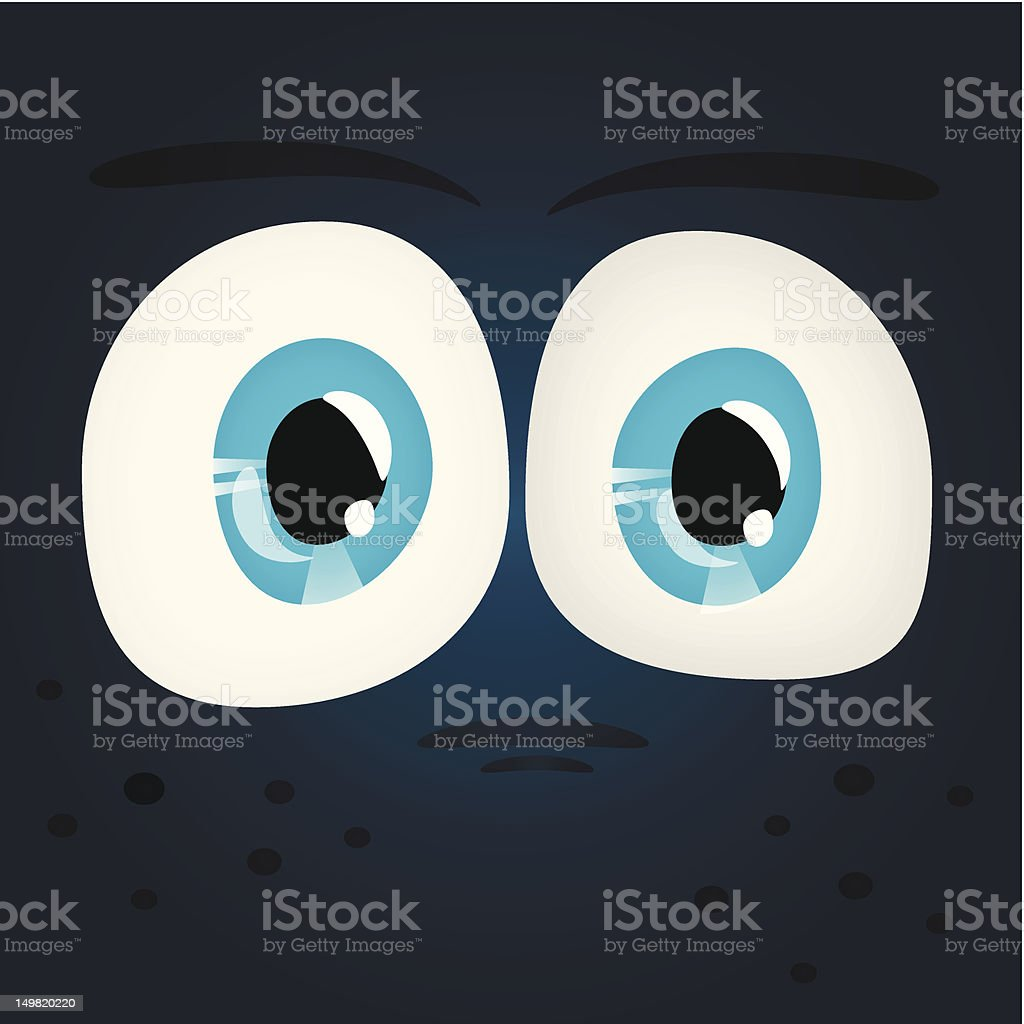 Set of Shiny Character Eyes royalty-free stock vector art