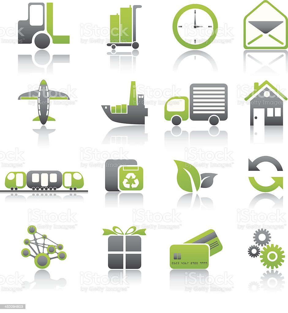 Set of shipping icons royalty-free stock vector art