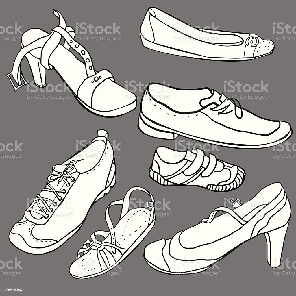 Set of shoes royalty-free stock vector art