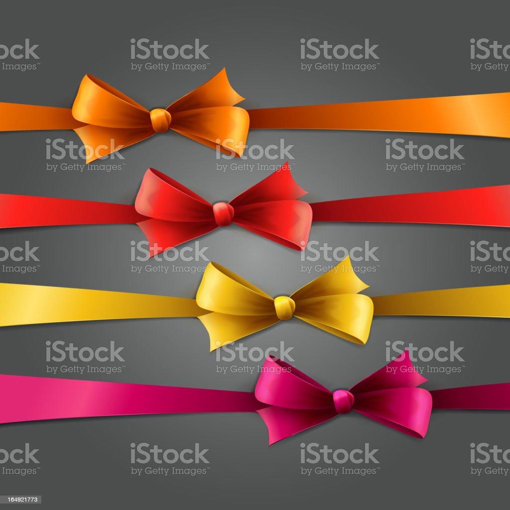 Set of silk bow royalty-free stock vector art