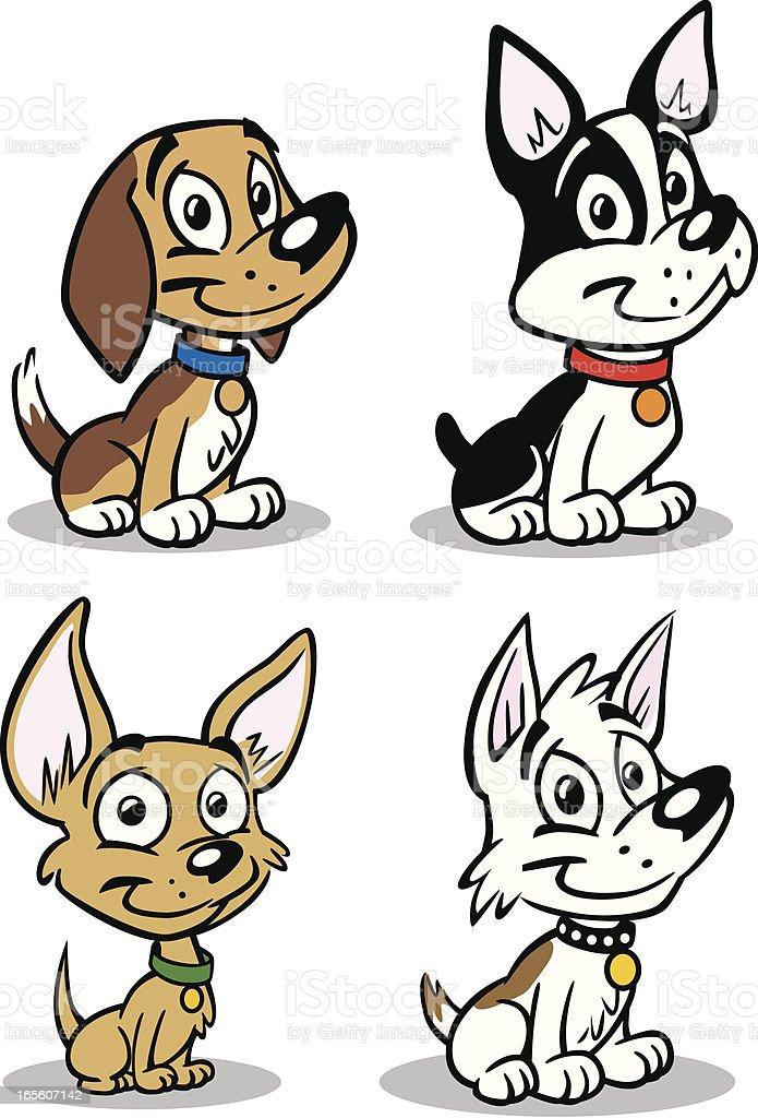 Set of Small Dogs vector art illustration