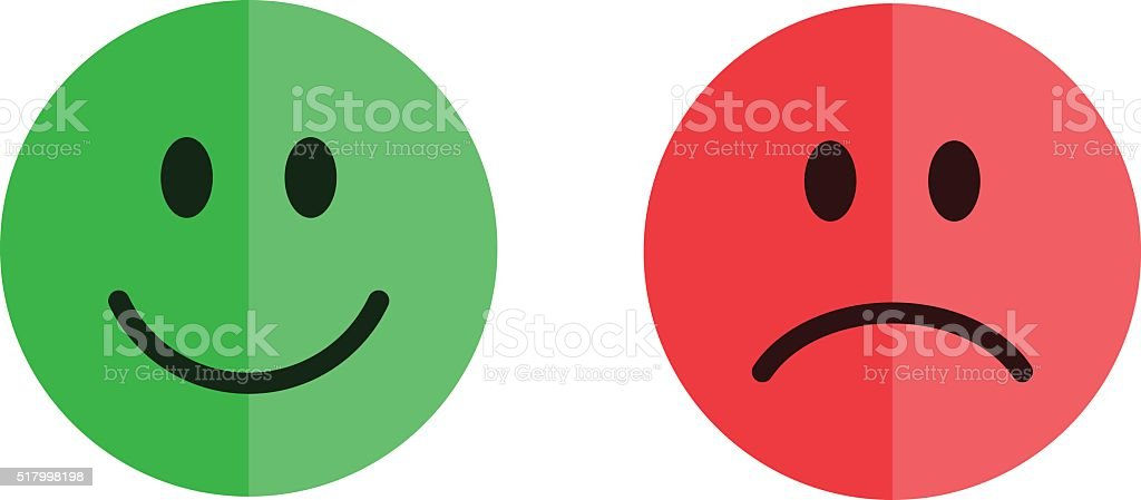 Set of smiley emoticons vector art illustration