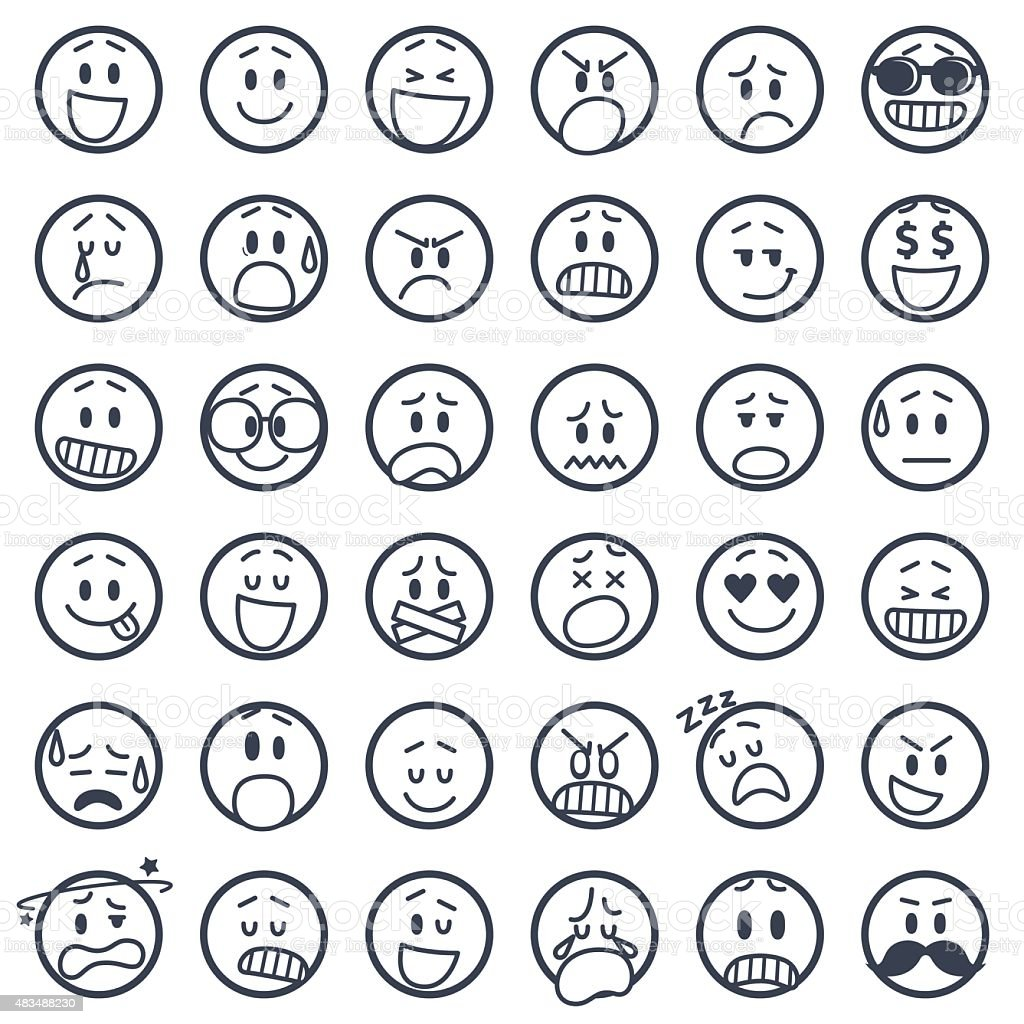 Set of smiley icons royalty-free stock vector art