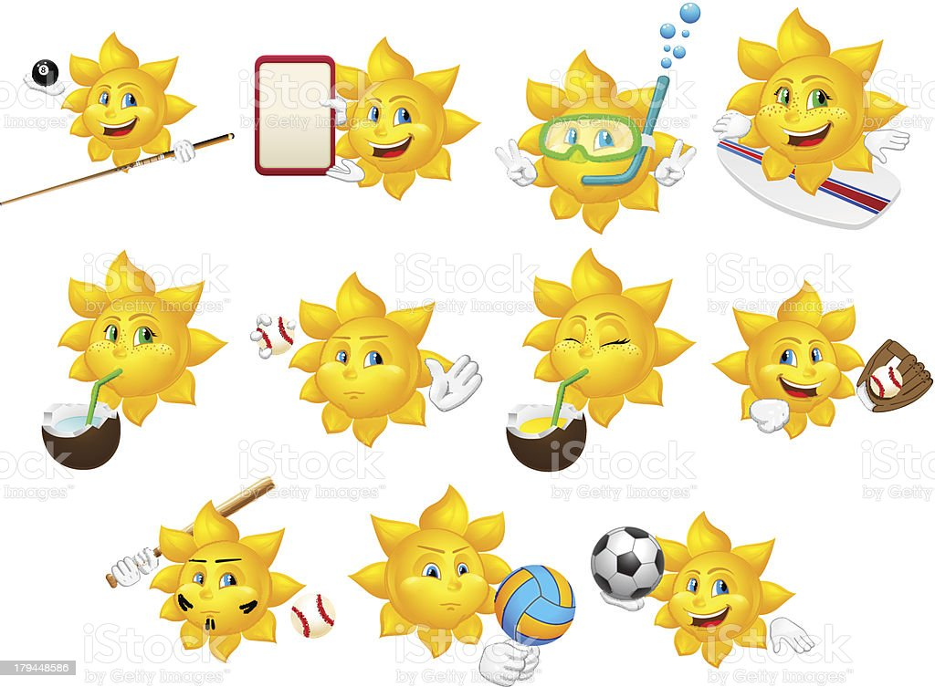 Set of smilies royalty-free stock vector art