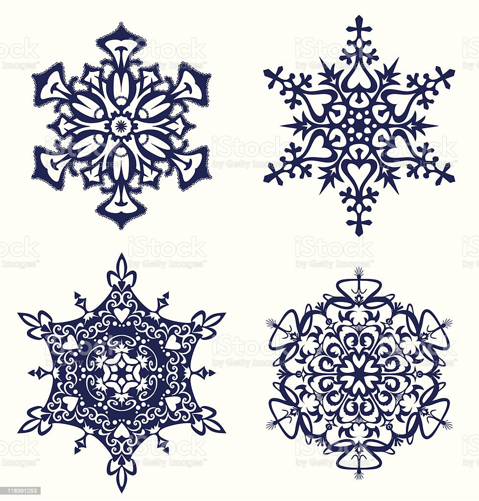 Set of snowflakes. royalty-free stock vector art