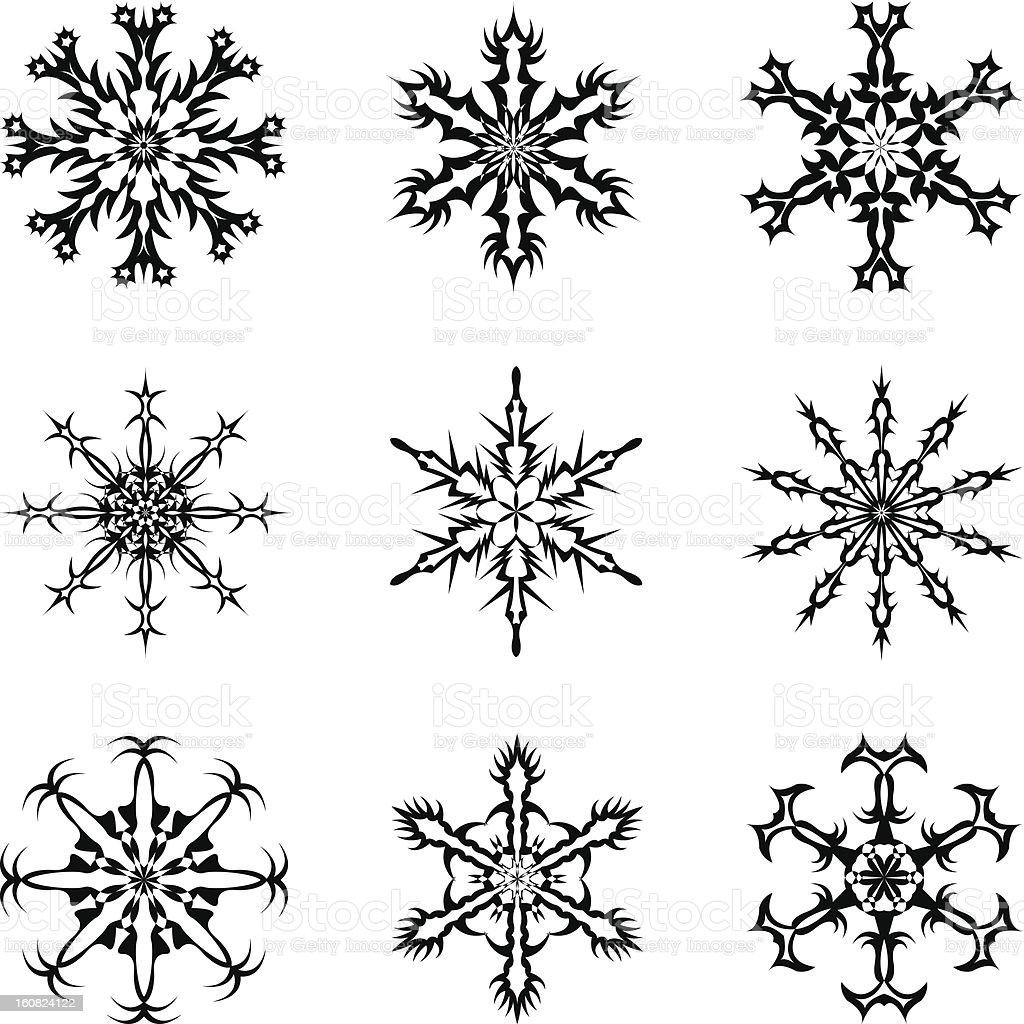 Set of snowflakes royalty-free stock vector art