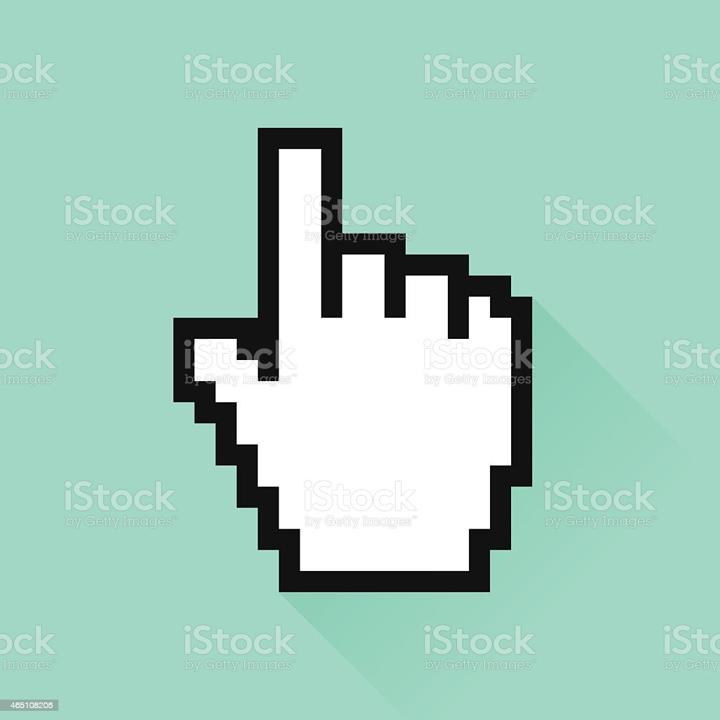 Set of social media icon. ?ursor hand vector art illustration