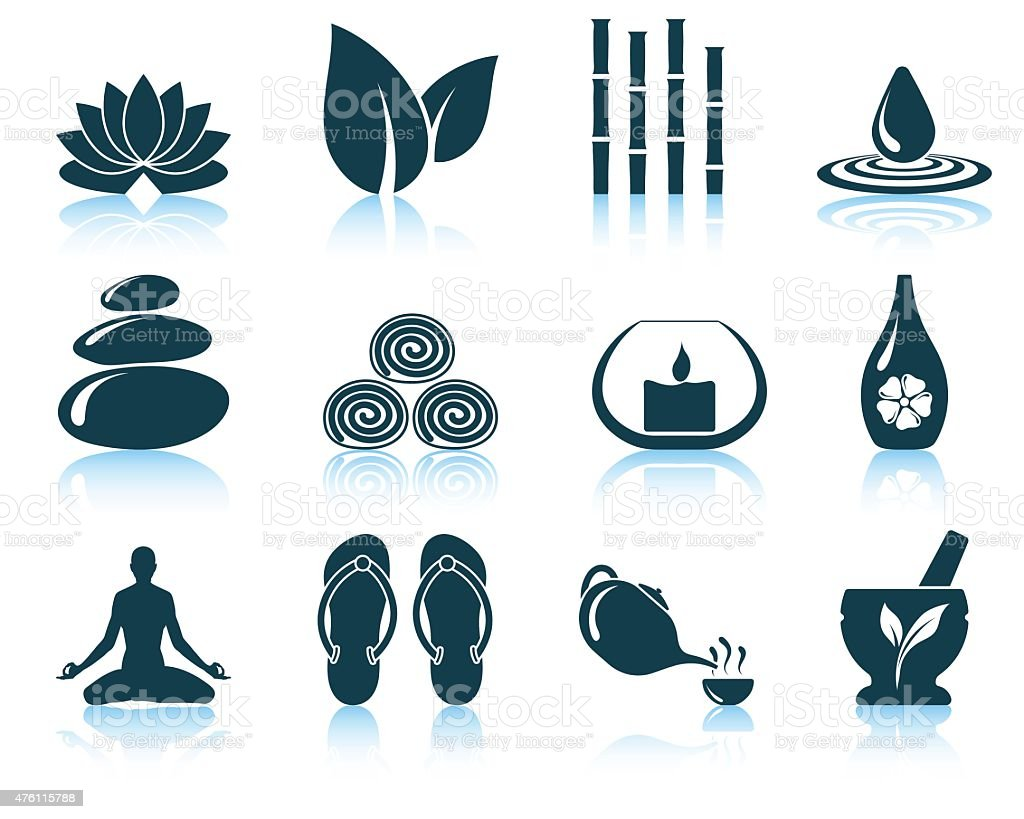 Set of spa icons vector art illustration