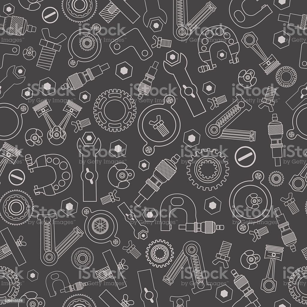 Set of spare parts 27 vector art illustration