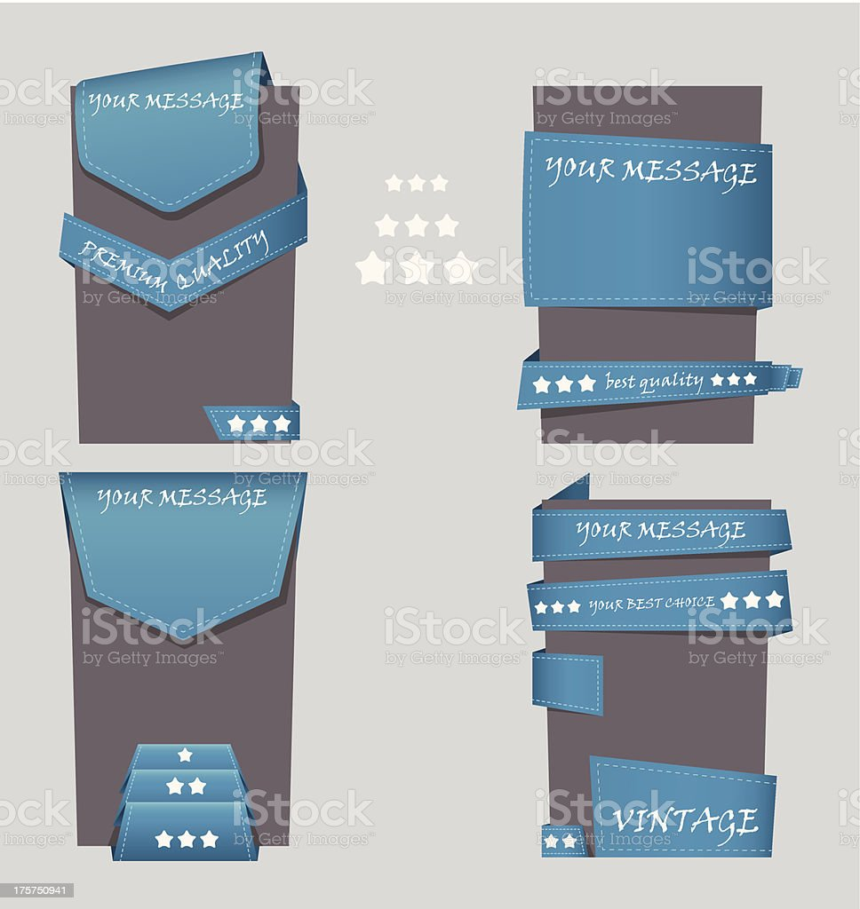 Set of special offer labels and banners royalty-free stock vector art