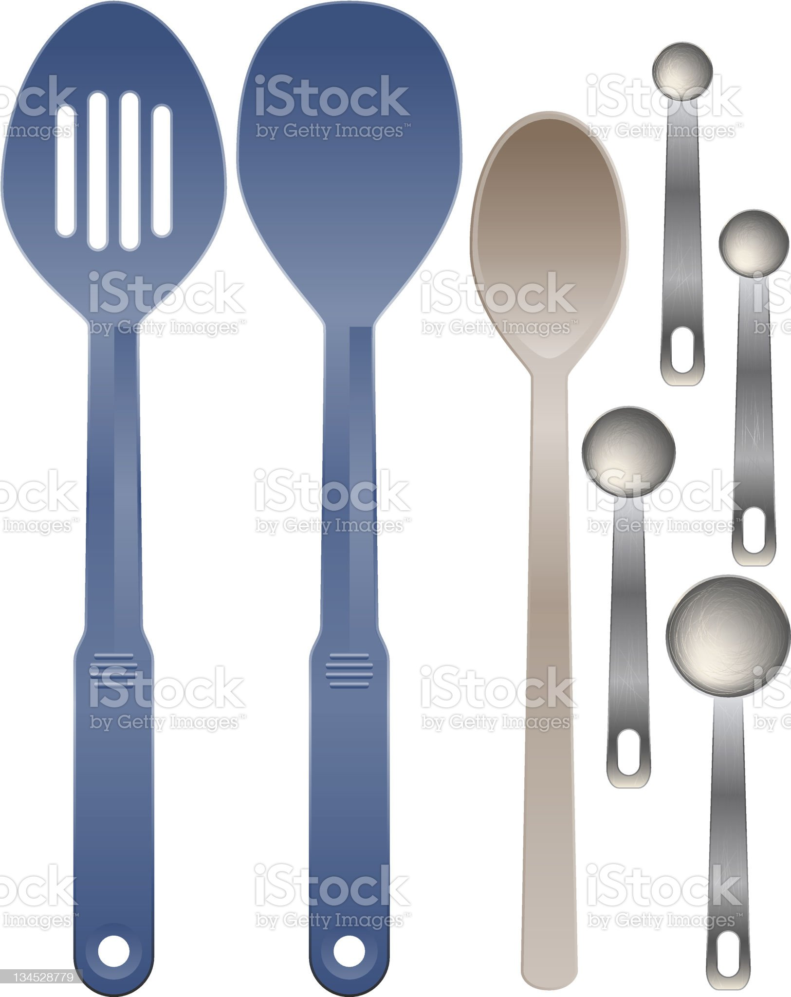 Set of spoons royalty-free stock vector art