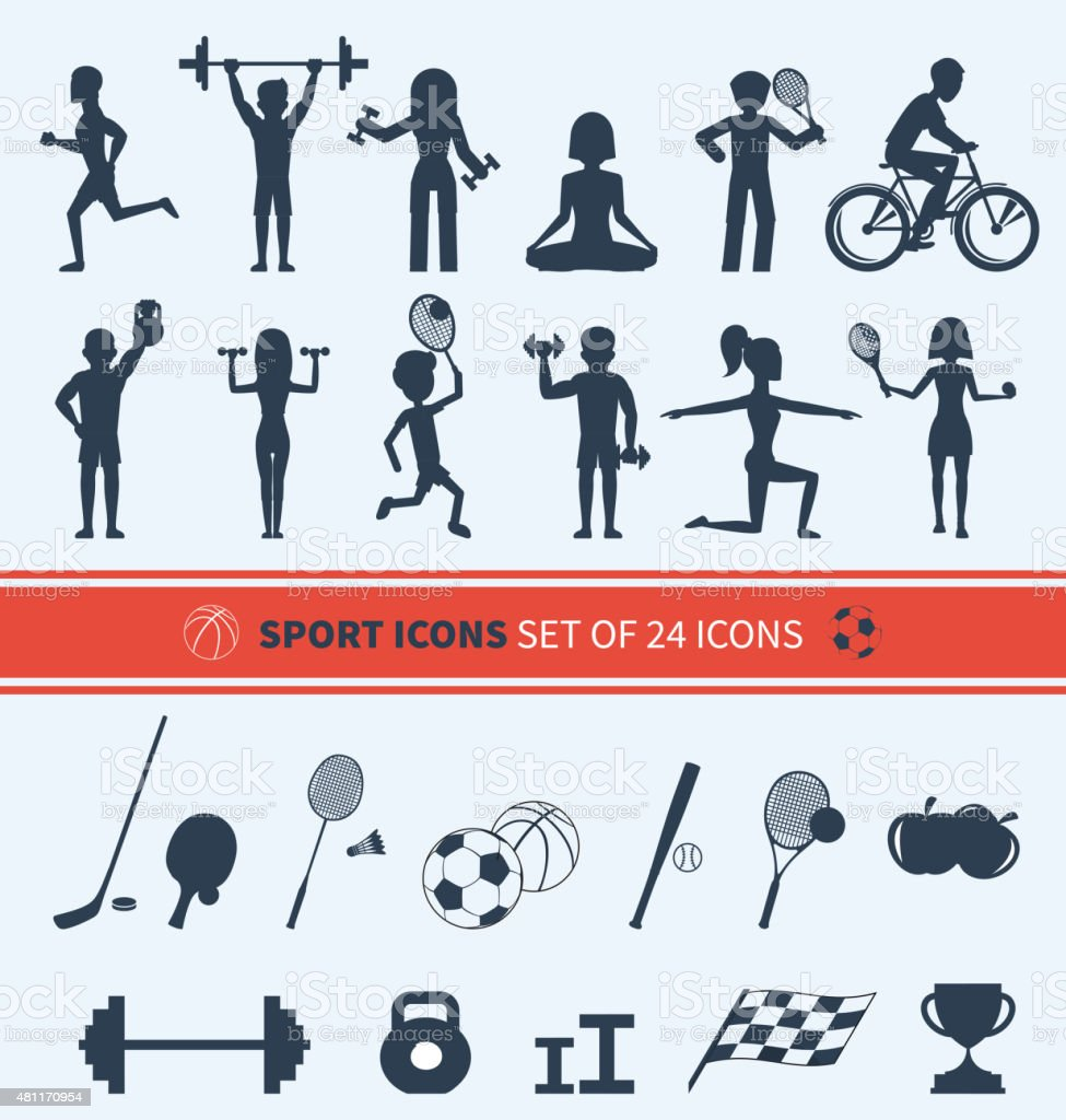 Set of Sport Icons vector art illustration