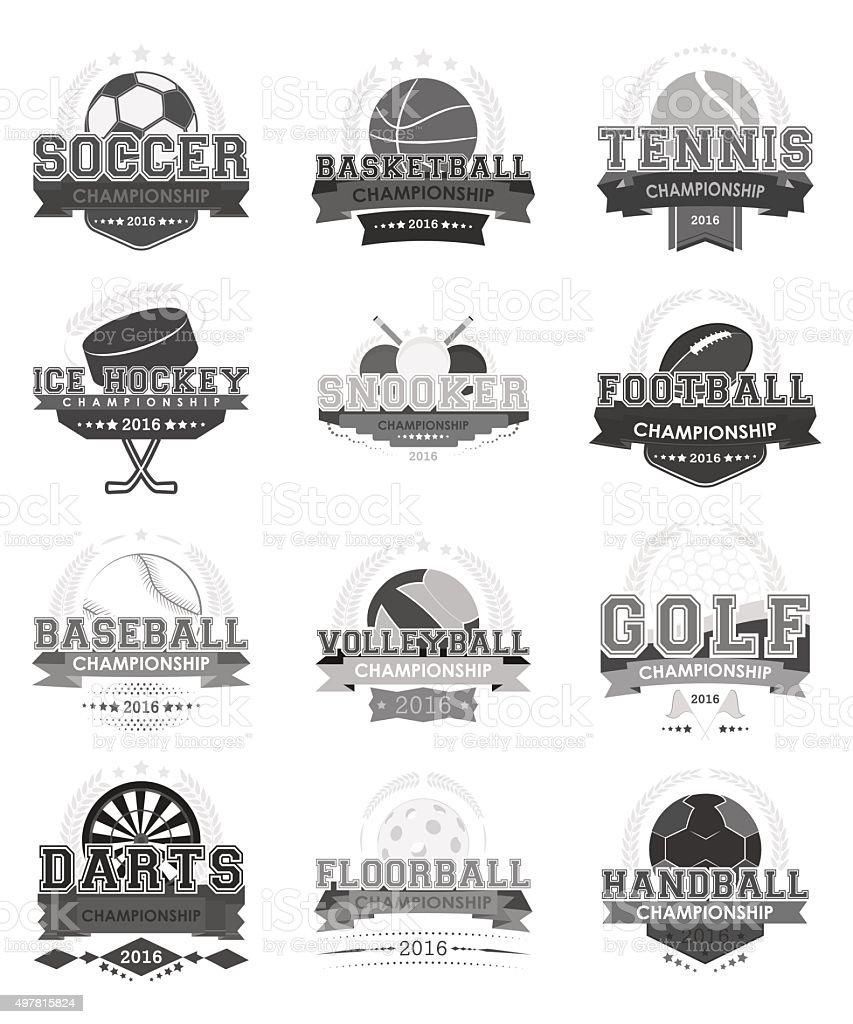 Set of sport vector icons. vector art illustration