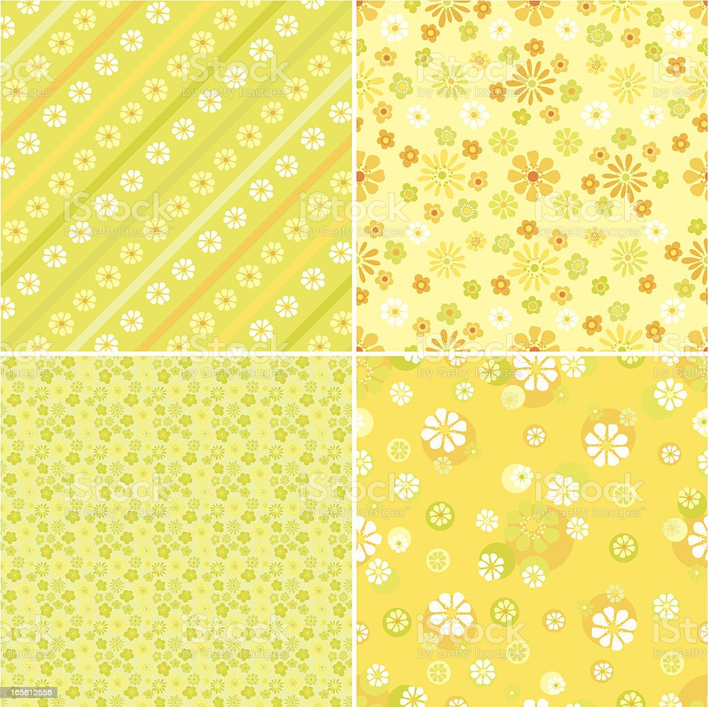 Set of Spring Floral Patterns royalty-free stock vector art
