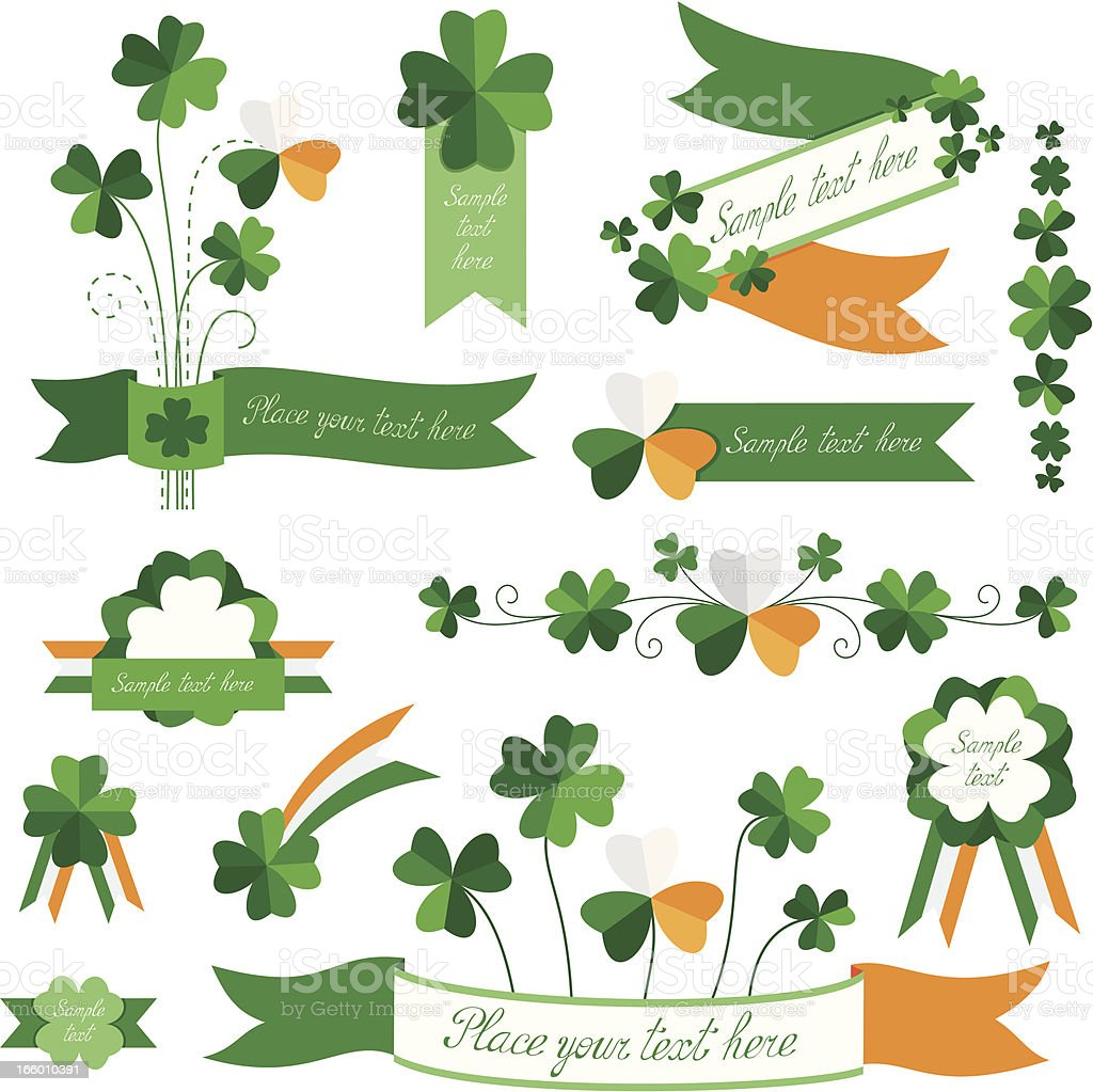 Set of St. Patrick's Day elements. royalty-free stock vector art