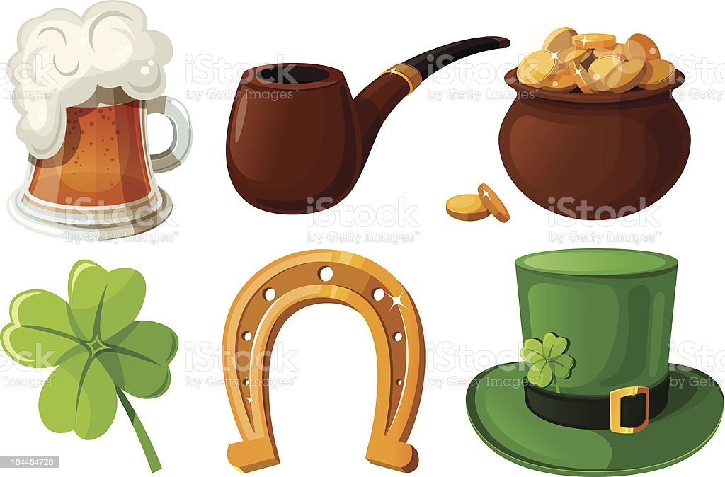 Set of St. Patrick's Day icons. royalty-free stock vector art