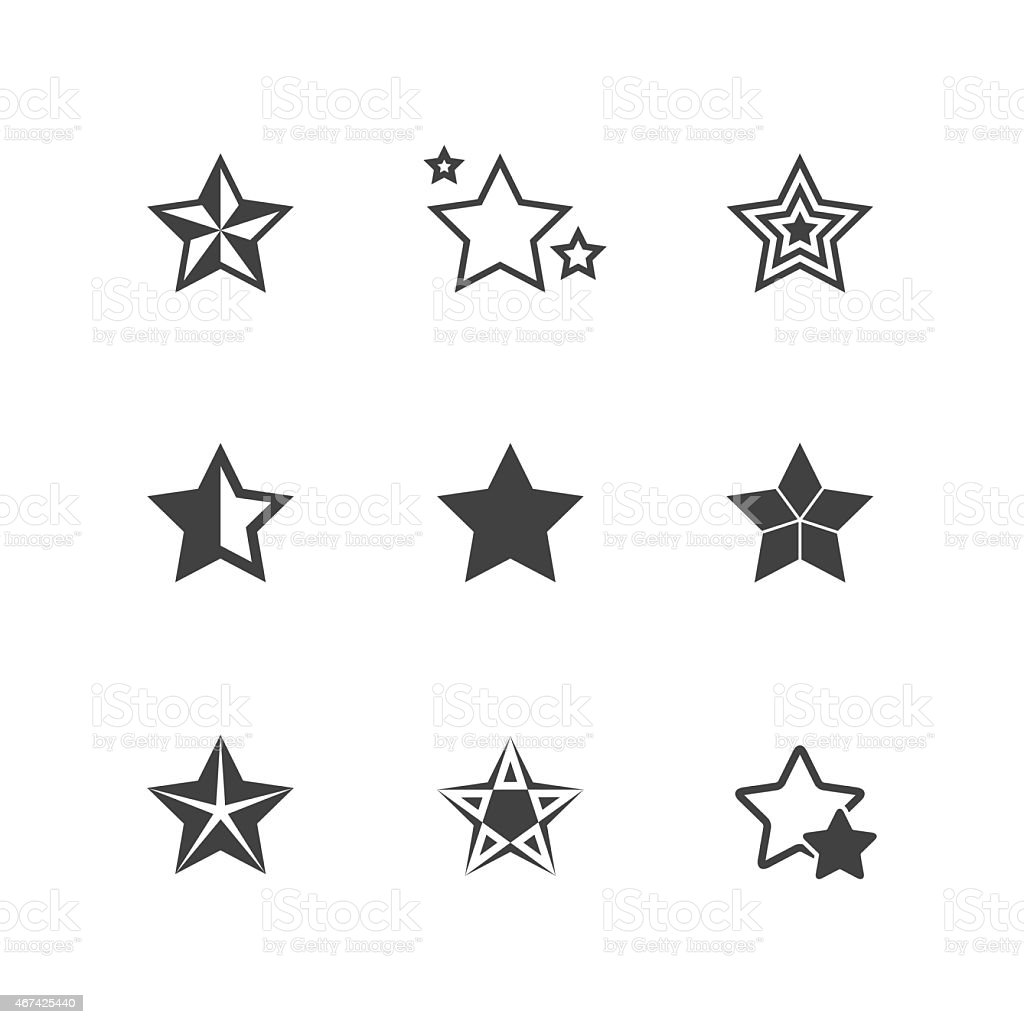Set of Star Icons vector art illustration