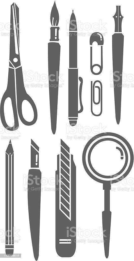 Set of stationery. vector art illustration