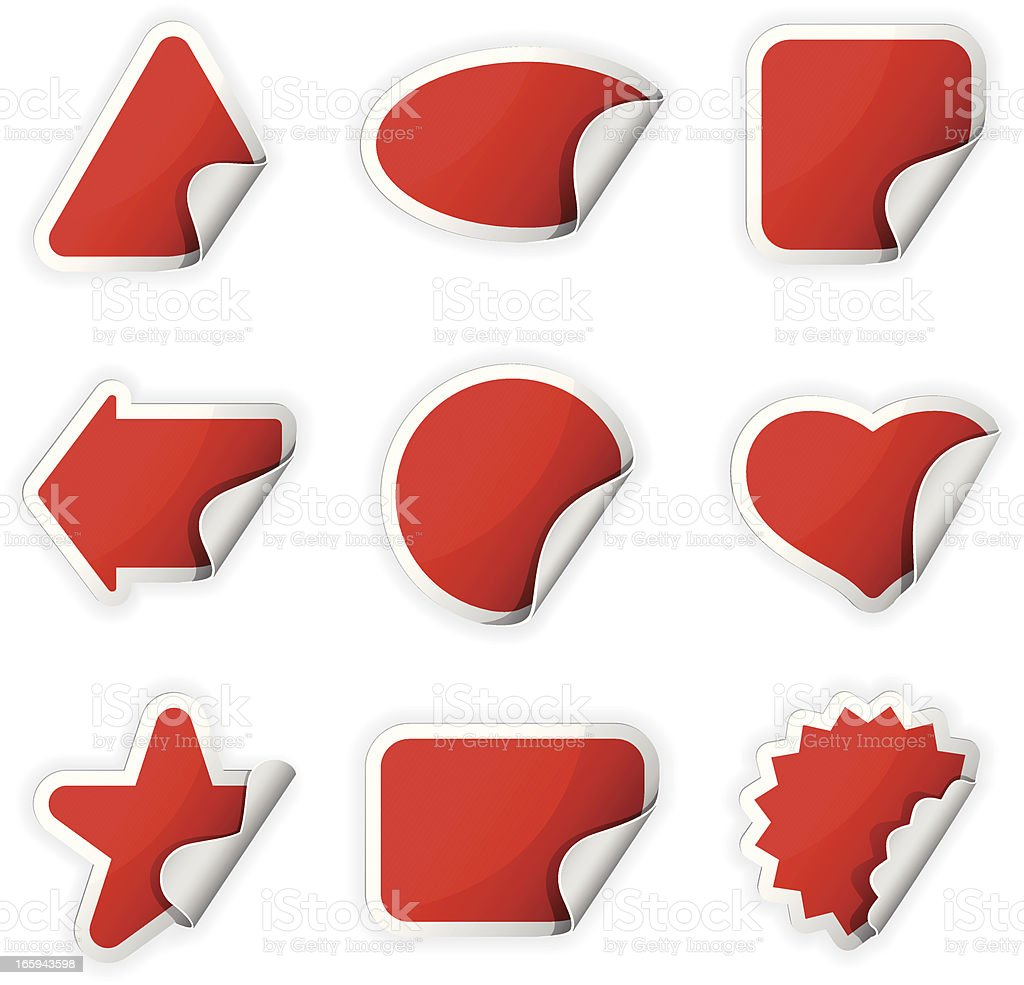 Set of Stickers royalty-free stock vector art
