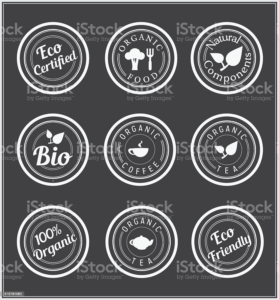 Set of  stickers. vector art illustration