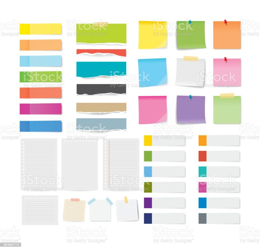 Free vector graphic sticky note note info paper free image on - Banner Sign Cards Document Information Sign Letter Set Of Sticky Note And Torn Paper Sheets Isolated Background Royalty Free Stock Vector