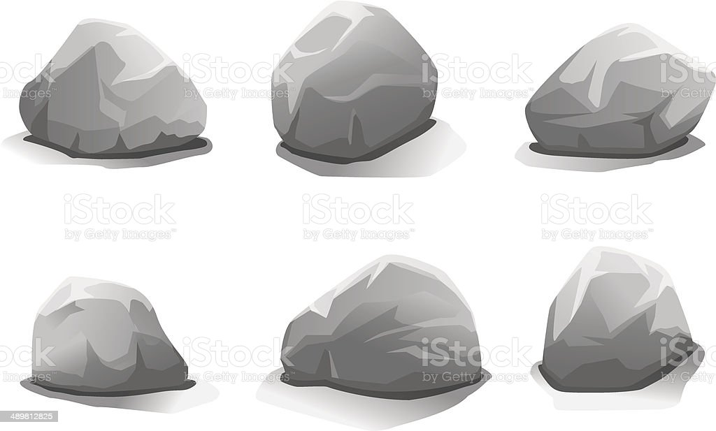 Set of stones vector art illustration