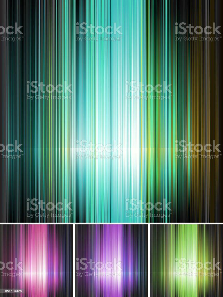 Set of striped absrtact background in four colors royalty-free stock vector art